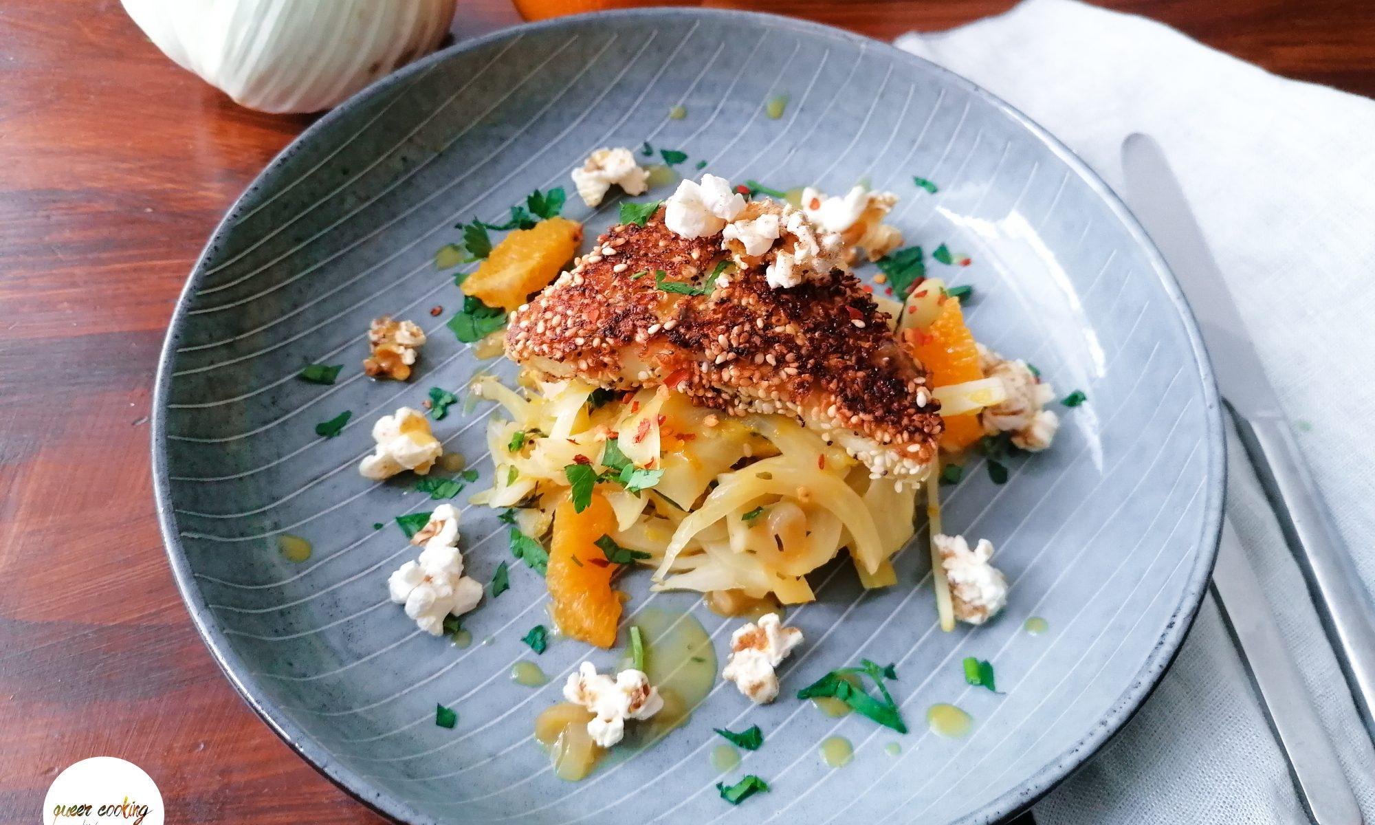Queer Cooking: Fenchel-Halloumi-Pop