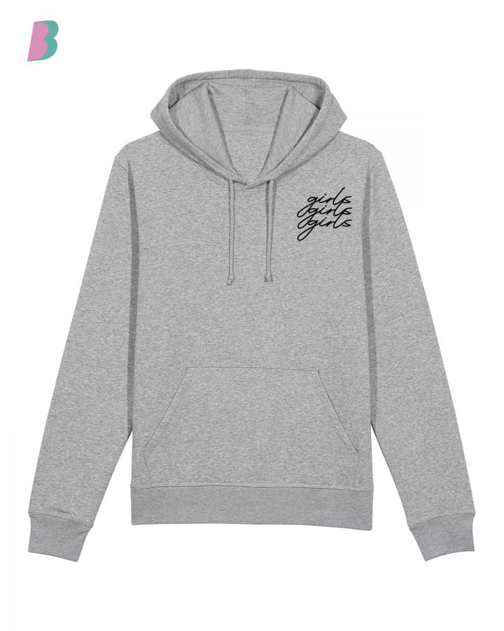 Busenfreundin-Hoodie-grey-girls-black